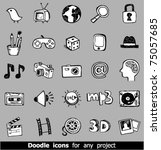 doodle web icons | Shutterstock .eps vector #75057685