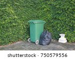 plastic trash bags and rubbish... | Shutterstock . vector #750579556