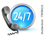 all day customer support call... | Shutterstock .eps vector #75058111
