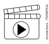 clapperboard with play button | Shutterstock .eps vector #750585916