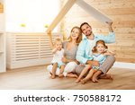 concept housing a young family. ... | Shutterstock . vector #750588172