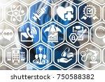 risks management healthcare... | Shutterstock . vector #750588382