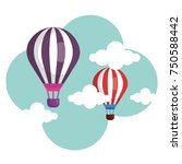 balloons air hot flying | Shutterstock .eps vector #750588442