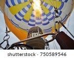 inside of hot air balloon | Shutterstock . vector #750589546