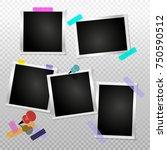 set frame retro photo on... | Shutterstock .eps vector #750590512