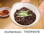 delicious black bean noodle | Shutterstock . vector #750594478