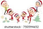 family three generations... | Shutterstock .eps vector #750594652