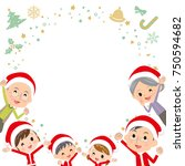 family three generations... | Shutterstock .eps vector #750594682