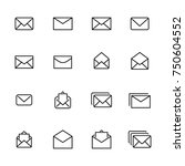 modern outline style mail icons ... | Shutterstock .eps vector #750604552