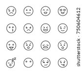 modern outline style emoji... | Shutterstock .eps vector #750604612