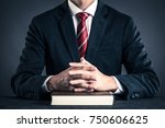 businessman and book studio... | Shutterstock . vector #750606625