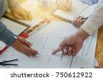 architect engineer meeting... | Shutterstock . vector #750612922