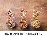 assortment of granola  muesli... | Shutterstock . vector #750626596