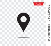 location icon vector. pin sign... | Shutterstock .eps vector #750629032