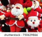 cute stuffed toy santa claus... | Shutterstock . vector #750629866