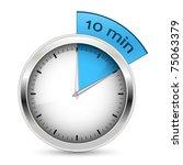 10 minutes timer. office clock... | Shutterstock .eps vector #75063379