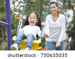 mom is playing with her little...   Shutterstock . vector #750635035