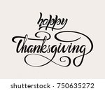 happy thanksgiving vector style ... | Shutterstock .eps vector #750635272
