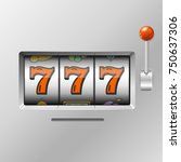 realistic slot machine with... | Shutterstock . vector #750637306