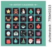advent calendar with various...   Shutterstock .eps vector #750643315