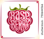 vector logo for raspberry ... | Shutterstock .eps vector #750644566