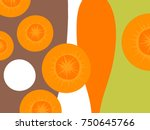 abstract vegetable design in... | Shutterstock .eps vector #750645766