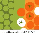abstract fruit and vegetable... | Shutterstock .eps vector #750645772