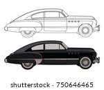 detailed side of a flat black... | Shutterstock .eps vector #750646465