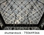 glass pyramid texture inside... | Shutterstock . vector #750649366