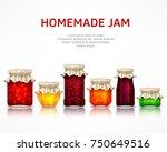 homemade jam poster  natural... | Shutterstock .eps vector #750649516