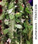 plastic garland ribbon .... | Shutterstock . vector #750651106