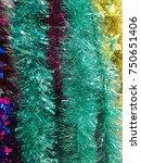 plastic garland ribbon .... | Shutterstock . vector #750651406