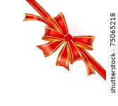 gift red bow. vector | Shutterstock .eps vector #75065218