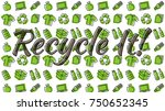 recycle it vector illustration. ... | Shutterstock .eps vector #750652345