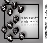 black friday template with air... | Shutterstock .eps vector #750657406