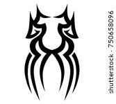 tattoo tribal vector design....   Shutterstock .eps vector #750658096