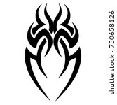 tattoo tribal designs. sketched ... | Shutterstock .eps vector #750658126
