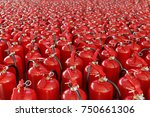 fire extinguishers. concept of... | Shutterstock . vector #750661306