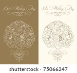 wedding invitation template... | Shutterstock .eps vector #75066247