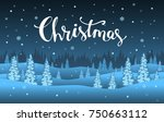 winter xmas christmas happy new ... | Shutterstock .eps vector #750663112