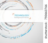 abstract technology background. ...   Shutterstock .eps vector #750663766