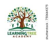 tree kids logo playful template   Shutterstock .eps vector #750664375