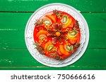 delicious sweet fruit cheese... | Shutterstock . vector #750666616