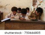 boys studying. thatta  sindh ... | Shutterstock . vector #750666805