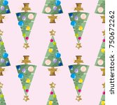 seamless pattern with happy new ...   Shutterstock .eps vector #750672262