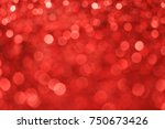 red bokeh light christmas day... | Shutterstock . vector #750673426