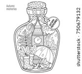 coloring book for adults. a... | Shutterstock .eps vector #750679132