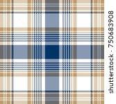 blue beige white checkered... | Shutterstock . vector #750683908