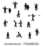 terrorism concept. set of... | Shutterstock . vector #750688456