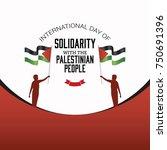 international day of solidarity ...   Shutterstock .eps vector #750691396